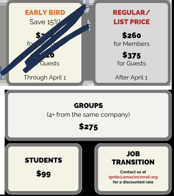 Ignite Pricing Grid